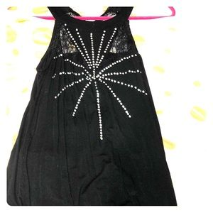 Woman black lace shirt